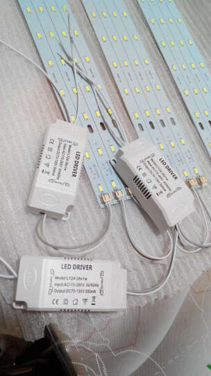 博勒宁LED灯板改造板吸顶灯改装灯板灯条长方形节能H灯管替换全套 32W-52cm长/8W*4条-白光 晒单图
