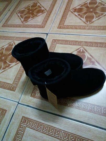 女士鞋 雪地靴女士 冬季多色真皮大码女士士短靴新款防滑保暖女士鞋 02淡粉色 37 晒单图