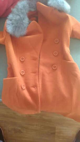 艾致倩 2017秋冬装新款毛呢外套女中长款韩版修身羊毛呢大衣 大红色 S 晒单图
