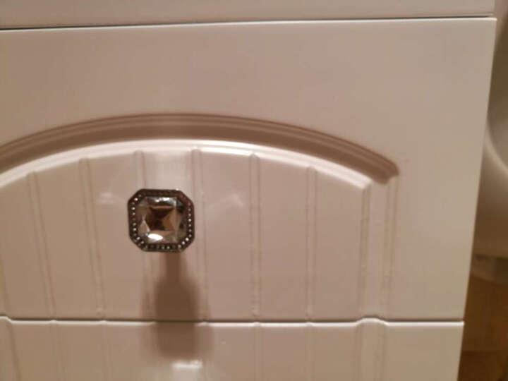 名爵(MEJUE)Z-6236100实木白色简欧浴室柜洗手盆洗脸盆柜组合套装吊柜 晒单图