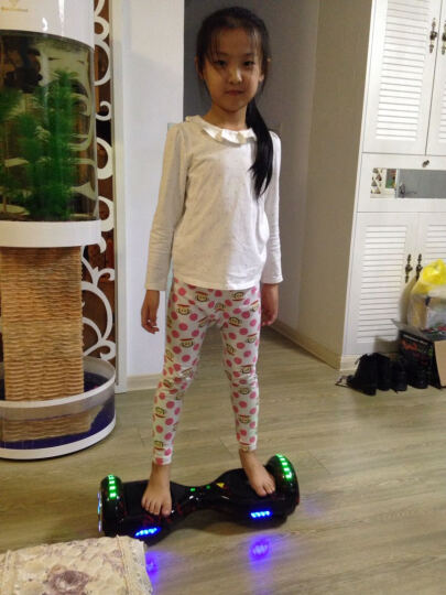 傲凤(AOFENG) 傲凤 儿童平衡车 双轮成人电动代步车两轮智能体感漂移车思维车 6.5吋标配轮毂/跑马灯-涂鸦白+手提 晒单图