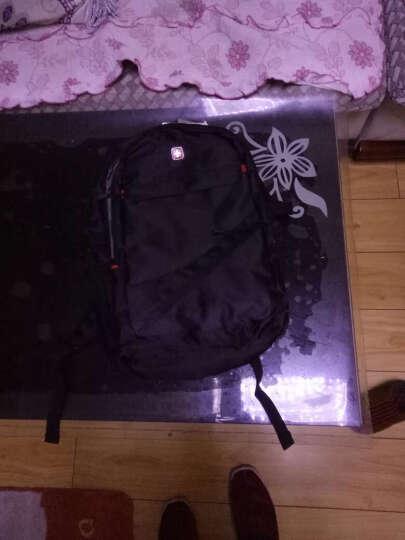 瑞士电脑包双肩包15英寸笔记本书包男女旅行背包LOGO定制 黑色英文升级版 15.6英寸【中号-可放15.6寸电脑】 晒单图