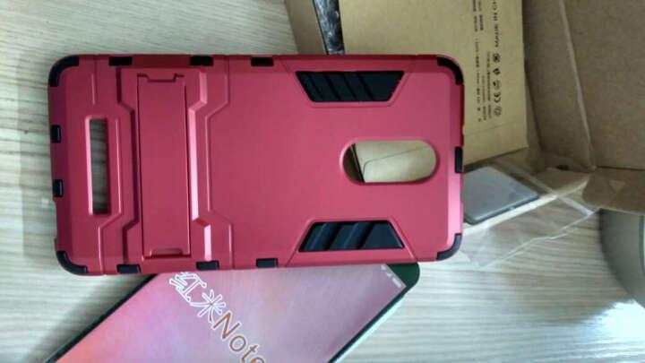 米基 红米3s手机壳保护套防摔硅胶硬男潮防摔 适用于小米红米3S 靓丽红 晒单图