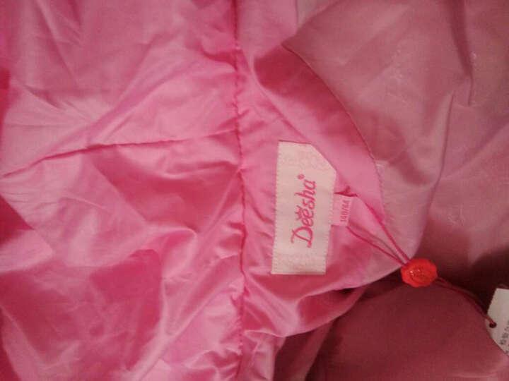 笛莎deesha女童儿童羽绒服上衣品牌童装中长款百搭保暖羽绒服914 粉紫 150 晒单图