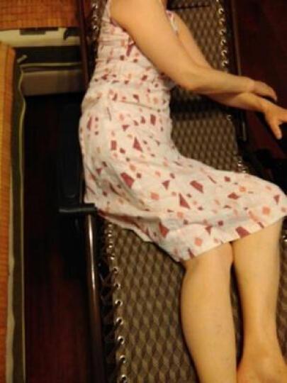 比进品牌 躺椅午休折叠椅孕妇椅子夏天靠椅阳台户外睡椅便携休闲椅折叠床纳凉老人座椅庭院懒人乘凉坐椅子 特宽特厚加密透气面料黑提花+薄棉垫 晒单图