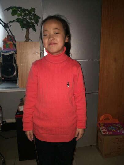 T2 女童毛衣外套童装长袖开衫宝宝儿童毛衣韩版针织衫纯色女孩上衣中大童 蝴蝶结灰色 150CM 晒单图