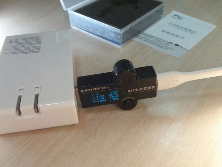 炬为 充电器移动电源usb电流表电压表电池容量检测功率测试仪表 OLED安全监测仪测试器 晒单图