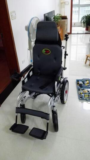 九圆 电动轮椅车残疾人老年人家用医用代步车轻便可折叠自动刹车可选锂电池可加装双人装置 680W红色舒适款 24V12A铅酸电池 晒单图