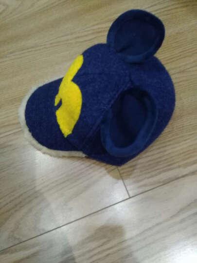诺芝萌 秋冬儿童帽子 男女孩大耳朵呢绒棒球帽 保暖鸭舌帽子 NM227 红色 可调节 晒单图