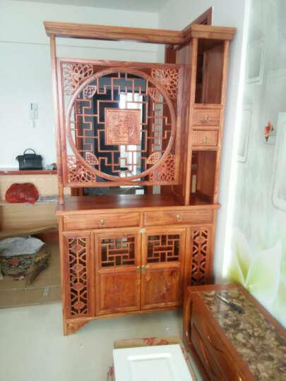 尤亚(YOUYA)玄关柜 间厅柜 榆木仿古中式装饰柜 花梨木色  餐边柜 酒柜 玄关柜-榆木 晒单图