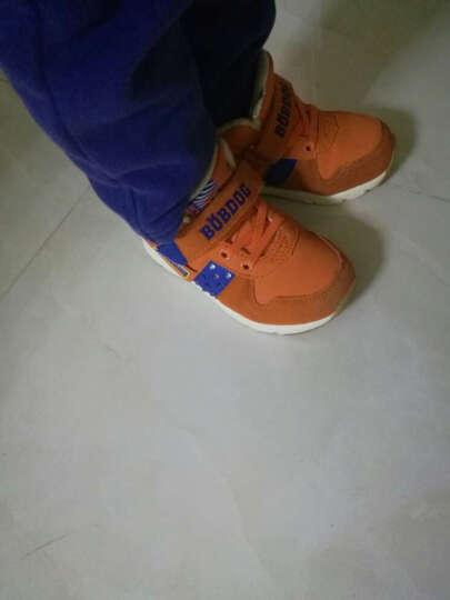 巴布豆 童鞋 品牌毛毛虫男女加绒加厚棉鞋童鞋中小童机能鞋四季款宝宝学步鞋 深蓝灰-49加绒 30码/内长18.5cm 晒单图