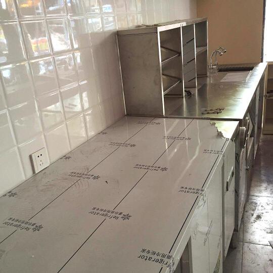 乐创(lecon) 操作台冰柜冷柜水吧台奶茶店工作台不锈钢酒吧商用设备定做厨房冷藏冷冻 1.8米 晒单图