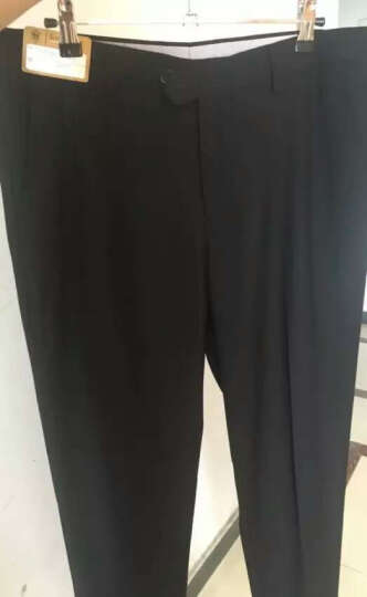 纱格男士商务西裤 男春秋款修身休闲西装裤 职业正装裤子 黑色修身 32码 晒单图