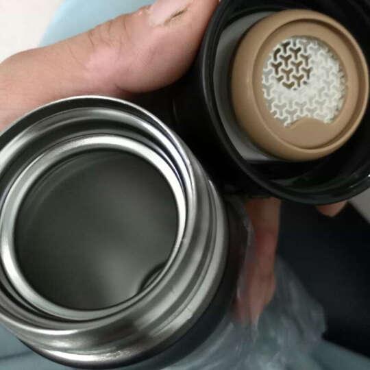 先行(CENSUN) 304不锈钢保温杯真空水杯直身杯子弹跳杯轻量水杯480ml 黑色 晒单图