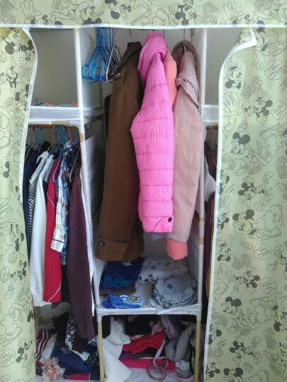 布衣柜 实木简易衣柜收纳牛津布儿童衣橱组合