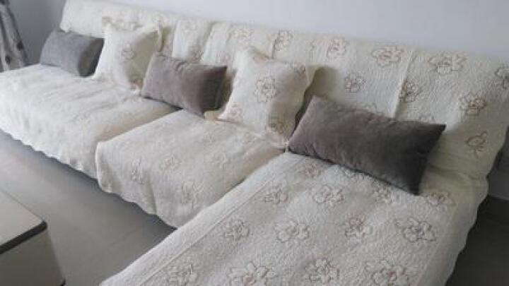 安俊  北欧短毛绒保暖沙发垫冬季定制贵妃布艺防滑组合加厚沙发坐垫子沙发套全包套飘窗垫子沙发罩巾全盖 兔绒 咖啡 90*120cm一张 晒单图