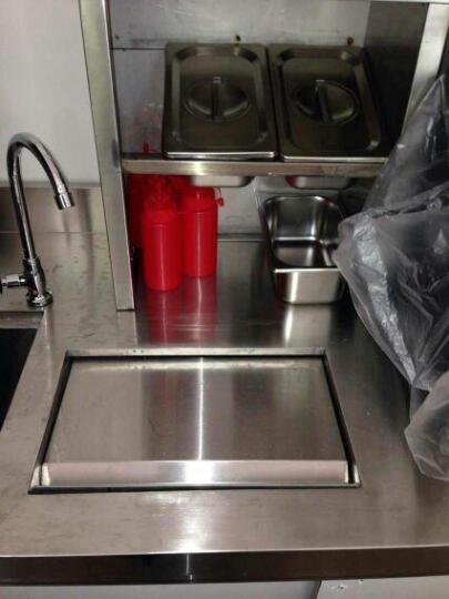 乐创(lecon) 操作台冰柜冷柜水吧台奶茶店工作台不锈钢酒吧商用设备定做厨房冷藏冷冻 1.5米 晒单图