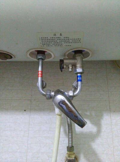 付我家十年前安装的万和电热水器和原装不锈钢混水阀