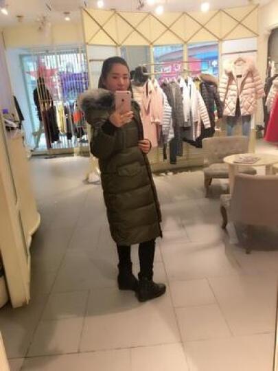 舞羽伦比 棉衣女中长款2018秋冬装新款韩范修身大毛领棉服女士棉袄外套 黑 色 XL 晒单图
