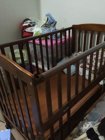 多功能实木环保 BB宝宝婴儿床新生儿床无油漆宝宝床 摇床摇篮床可变书桌欧式婴儿床多档调节床 紫檀色 晒单图