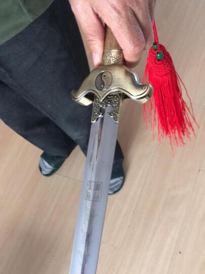 太极晨练剑龙泉不锈钢软剑武术表演剑 三十寸 晒单图