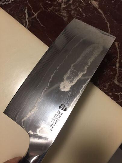 拓牌刀具颂系列G10手柄菜刀日本进口45层大马士革不锈钢切片刀 晒单图