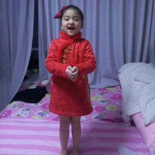 布布发现(JOY DISCOVERY) 布布发现2016童装女童中国风夹棉加厚款长袖旗袍 深红色 170 晒单图