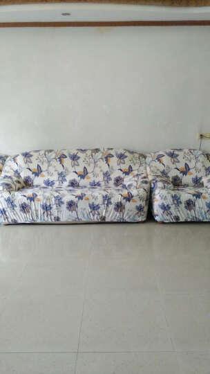 尚槿家纺 弹力沙发套罩全包 防滑紧包沙发垫全盖 沙发巾罩组合套装 布艺四季用 水波纹 双人座 沙发长度145-185CM 晒单图