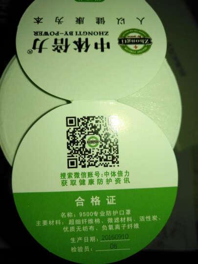 中体倍力N95口罩滤片 9500-A03过滤片12片装 晒单图
