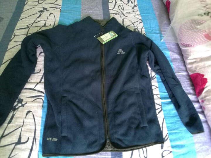 飞米斯(FMIX)加绒卫衣男冬季新款大码潮人卫衣男保暖抓绒外套 887099军绿色 XL 晒单图