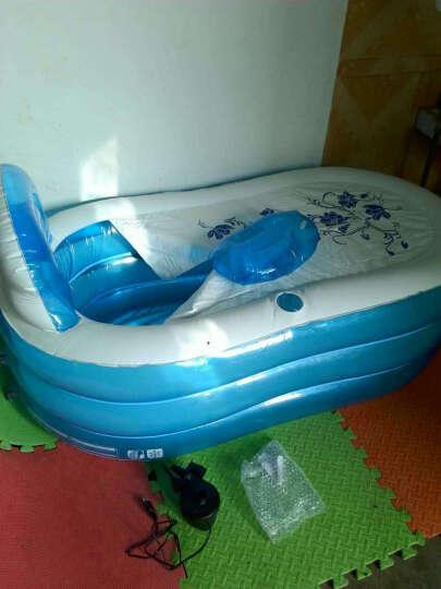 漫游宝宝 成年人免充气浴缸浴桶保温充气泡澡洗澡桶加厚保温 天蓝大号充气浴缸 晒单图