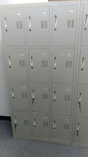 苏美特 更衣柜员工储物柜钢制带锁衣柜宿舍员工柜存包柜铁皮柜鞋柜多门柜 12门更衣柜 实用型 晒单图