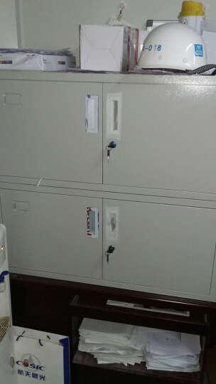 森拓文件柜铁皮柜办公资料柜财务凭证柜档案柜钢制储物柜带锁 顶柜一节 晒单图