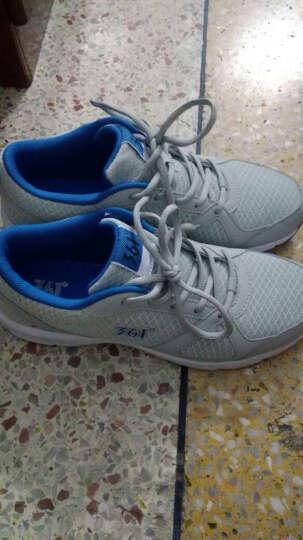 361度男鞋 轻质缓震运动鞋 网布透气跑步鞋 N 中灰/蓝 42 晒单图