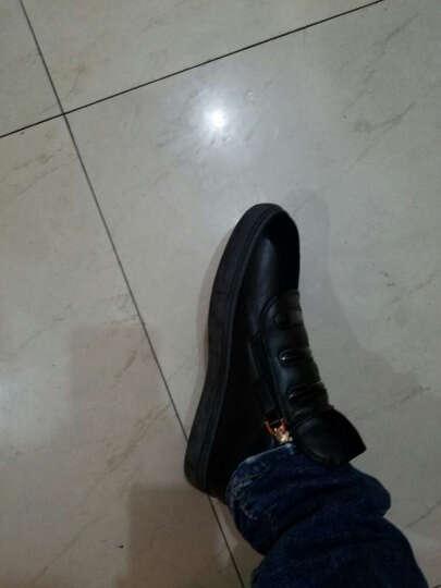 黑优服饰春季休闲鞋侧拉链白鞋平底套脚男鞋 白色 39 晒单图