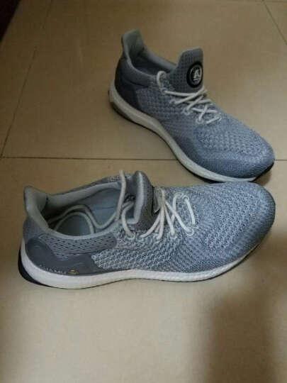 AUMU缓震透气休闲鞋男女情侣款飞织爆米花底运动跑步鞋子G800 灰色 40(脚背宽 高拍大一码) 晒单图