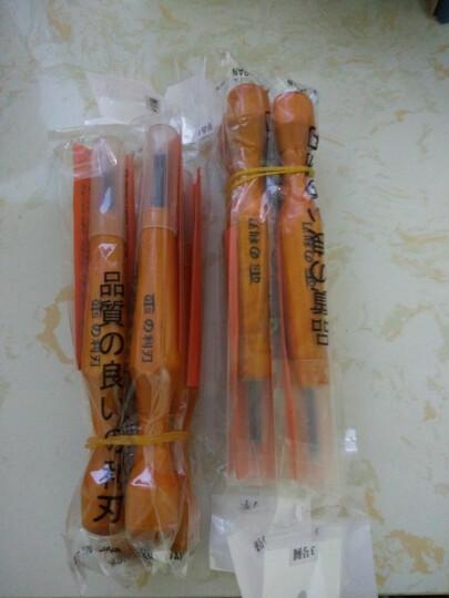 日本进口QTS利刃木刻刀专业手工橄榄核雕刻刀 木雕微雕板画雕刻刀木工刻刀具 3号四支套装 晒单图
