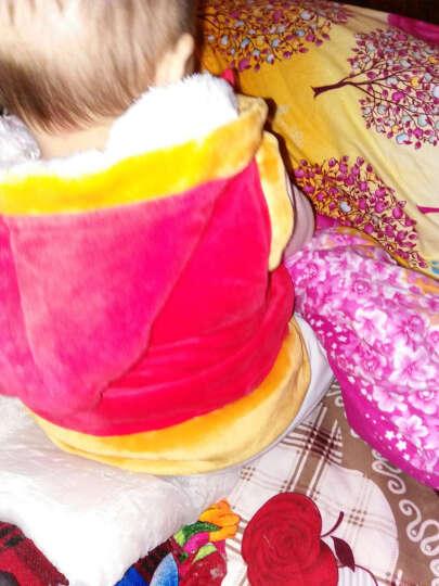 诚心城裕 婴儿衣服冬装加厚加绒女宝宝唐装儿童套装婴幼儿满月百天周岁宴会服5860h 红色 8-80+虎头鞋 晒单图