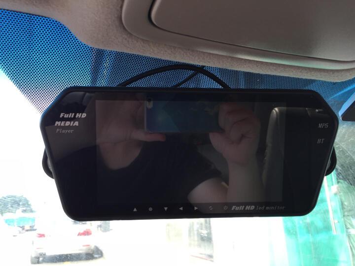 热卡 (Hit Car) 7寸车载蓝牙后视镜宽电压12V24V显示器手机提音乐视频播放器 后视镜+摄像头+电源转换器 (货车用) +16G U盘 晒单图