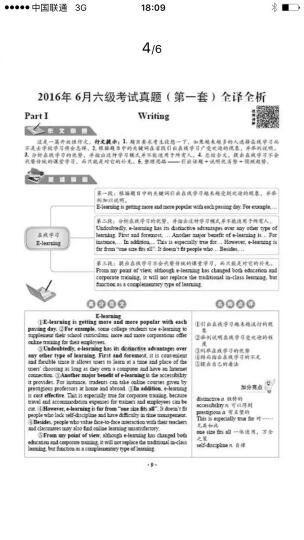 华研外语 英语六级预测试卷模拟卷(2016.12 新题型笔试+口试) 晒单图