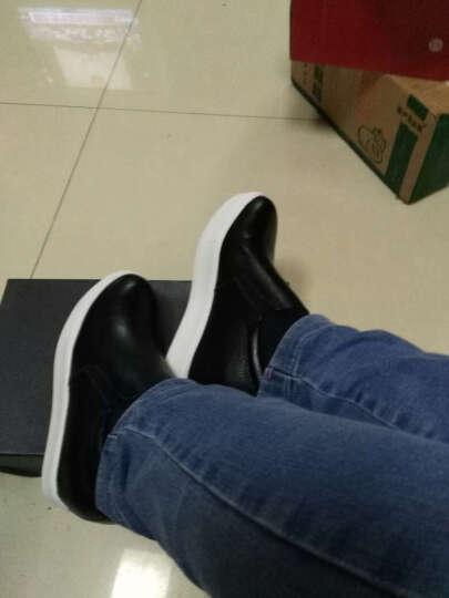 艾梵图女鞋真皮镂空透气休闲鞋套脚女士凉鞋隐形内增高平底乐福鞋 黑色网孔 37 晒单图