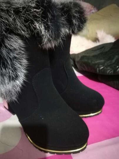 范思蒙  新款单鞋女时尚舒适优雅高跟鞋 香槟色 39 晒单图