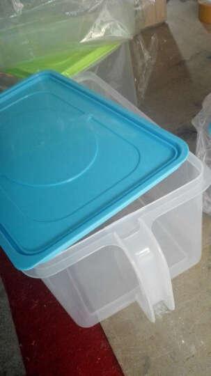 百露 可叠加厨房密封罐 带手柄收纳盒 冰箱橱柜带盖储物箱米桶 加厚粉色 晒单图