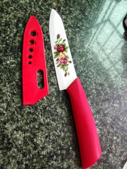 利瓷6寸烤花陶瓷水果刀送刀套 精美陶瓷刀锋利耐磨不生锈 晒单图