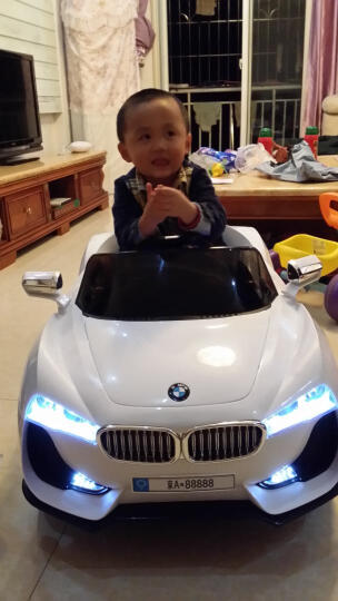 卡蒂勒(CARDIRO) 儿童电动车四轮童车可坐宝宝玩具车双驱可遥控小孩电动车 2017升级款SUV 2台9折链接 电池电机延保1年 晒单图