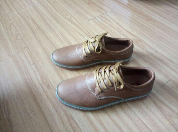 西域骆驼(VANCAMEL)流行男鞋2016新款日常休闲男士休闲皮鞋保暖男靴 21暗棕 41 晒单图