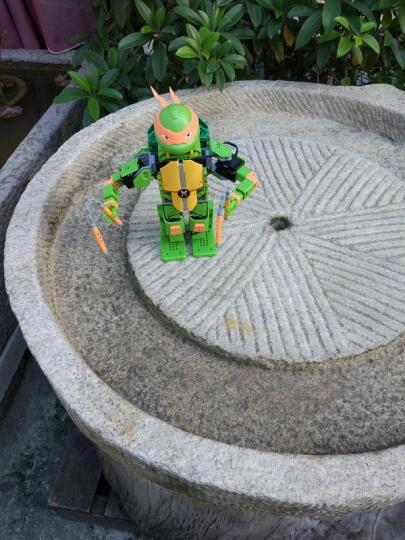 优必选Jimu积木忍者龟智能机器人玩具 儿童益智电动拼装唱歌跳舞互动动作编程遥控机器人玩具 拉斐尔-APP遥控积木智能机器人 晒单图