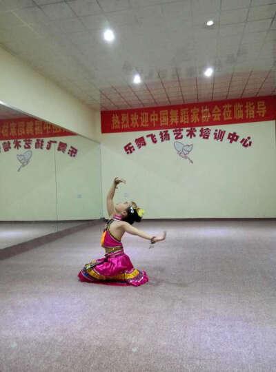 儿童少数民族演出服群舞独舞幼儿女童彝族苗族壮族土家族舞蹈服装 160cm 晒单图