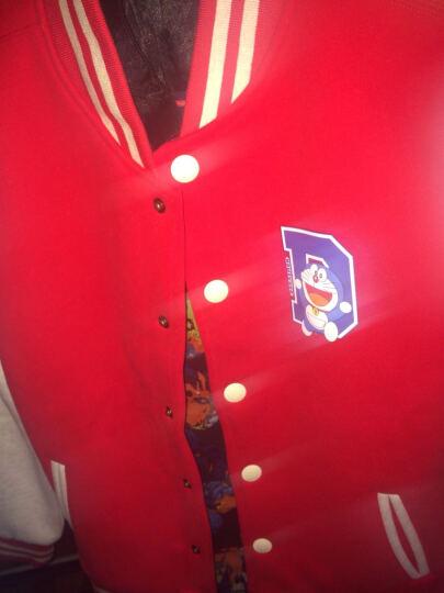 第七公社 亲子装春装2017新款哆啦A梦一家三口全家装母子女棒球服 黑身浅灰袖 妈165 晒单图