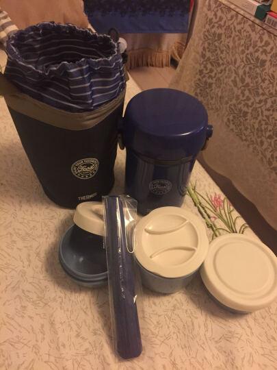 膳魔师(THERMOS)饭盒带提绳带杯套手提式保温饭盒儿童成人JBC 801 JBC801深蓝色 晒单图